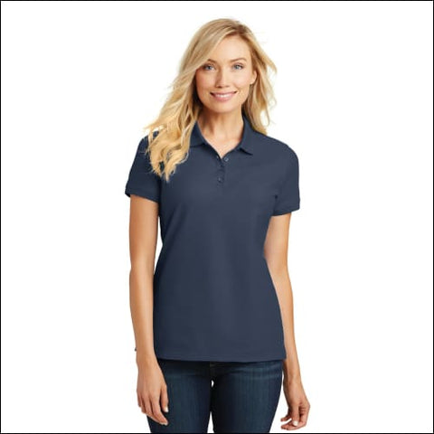 Port Authority Ladies Core Classic Pique Polo. L100 - River Blue Nvy / L - Port Authority 191265331029