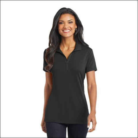 Port Authority Ladies Cotton Touch Performance Polo. L568 - Black / XS - Port Authority 191265522618
