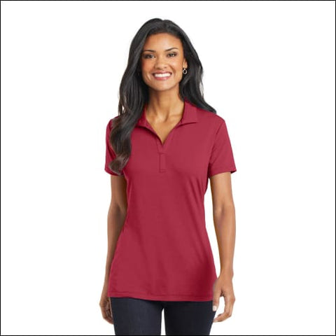 Port Authority Ladies Cotton Touch Performance Polo. L568 - Chili Red / XS - Port Authority 191265213745