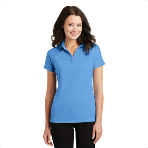 Port Authority Ladies Crossover Raglan Polo. L575 - Azure Blue / XS - Port Authority 191265119764