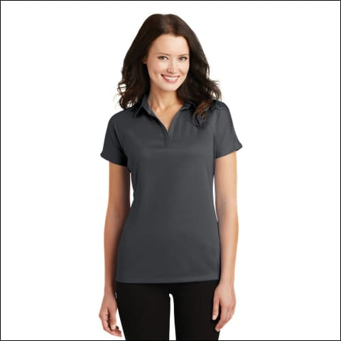 Port Authority Ladies Crossover Raglan Polo. L575 - Battleship Gry / XS - Port Authority 191265289429