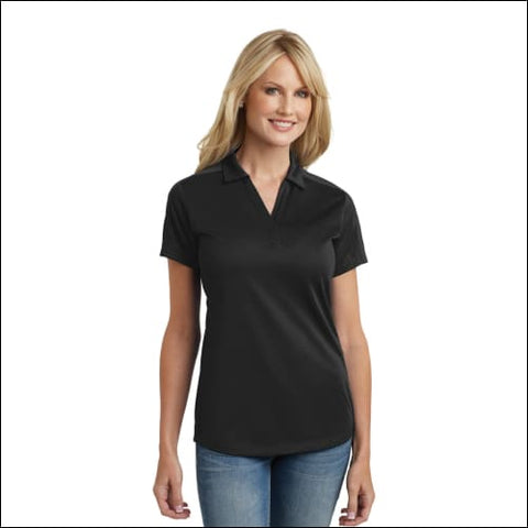 Port Authority Ladies Diamond Jacquard Polo. L569 - Black / XS - Port Authority 191265524308