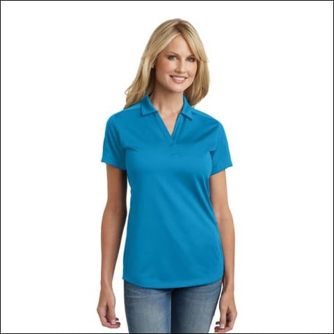 Port Authority Ladies Diamond Jacquard Polo. L569 - Blue Wake / XS - Port Authority 191265214292