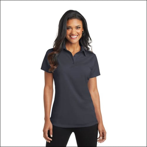 Port Authority Ladies Dimension Polo. L571 - Battleship Gry / XS - Port Authority 191265286947