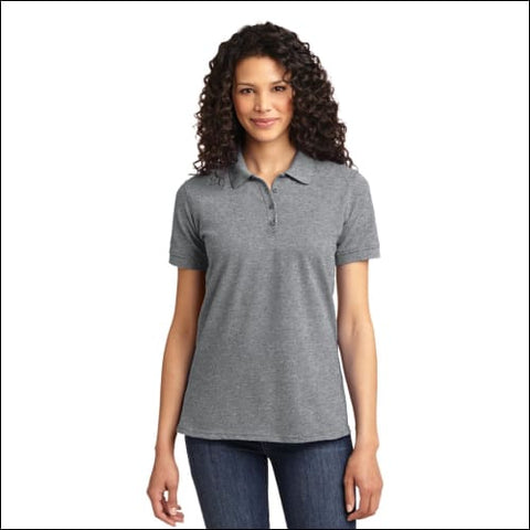 Port & Company Ladies Core Blend Pique Polo. LKP155 - Athl Heather / XS - Port & Company 078715190743