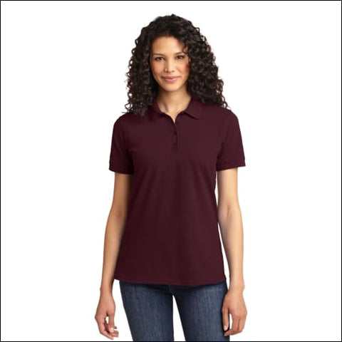 Port & Company Ladies Core Blend Pique Polo. LKP155 - Athl Maroon / XS - Port & Company 191265414258