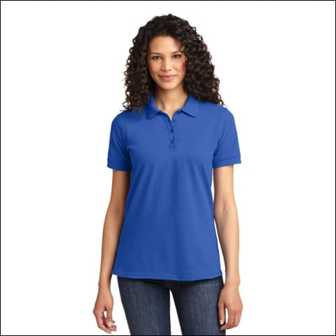 Port & Company Ladies Core Blend Pique Polo. LKP155 - Royal / L - Port & Company 191265415217