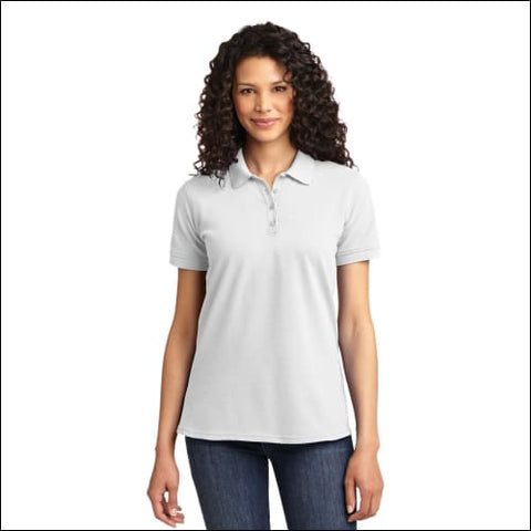 Port & Company Ladies Core Blend Pique Polo. LKP155 - White / XS - Port & Company 191265415224