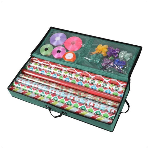 Primode Storage Organizer for 30 Inch Wrapping Paper Ribbon and Bows Durable 600D - Primode 0758182982675