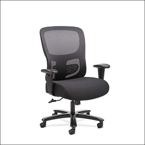 Sadie Big and Tall Office Computer Chair Height Adjustable Arms with Adjustable Lumbar Black (HVST141) - HON 780333614685