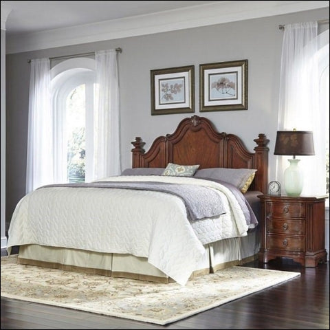 Santiago King/California King Headboard and Night Stand -Brown -King - Homestyles 0095385018238