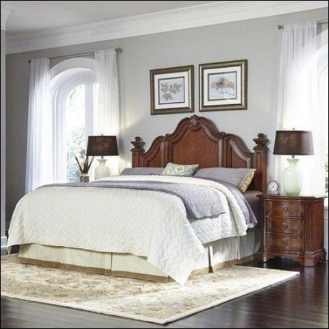 Santiago King/California King Headboard and Two Night Stands -Brown -King - Homestyles 0095385018276