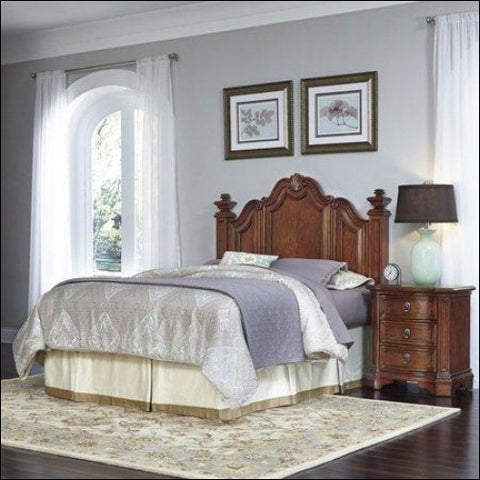 Santiago Queen/Full Headboard and Night Stand -Brown -Queen - Homestyles 0095385018054