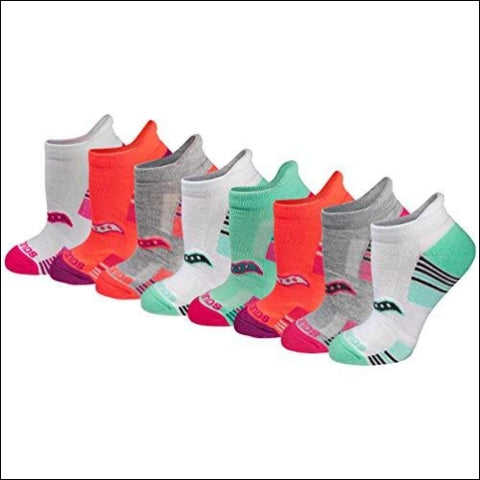 Saucony Womens Performance Heel Tab Athletic Socks (8 & 16 Packs) Assorted Light (8 Pack) Shoe Size: 5-10 - Saucony 737899624580