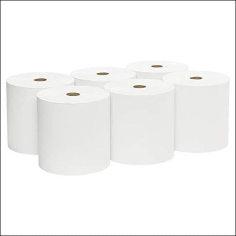 Scott Essential High Capacity Hard Roll Paper Towels (01005) White 1000 / Roll 6 Paper Towel Rolls / Convenience Case - Kimberly-Clark