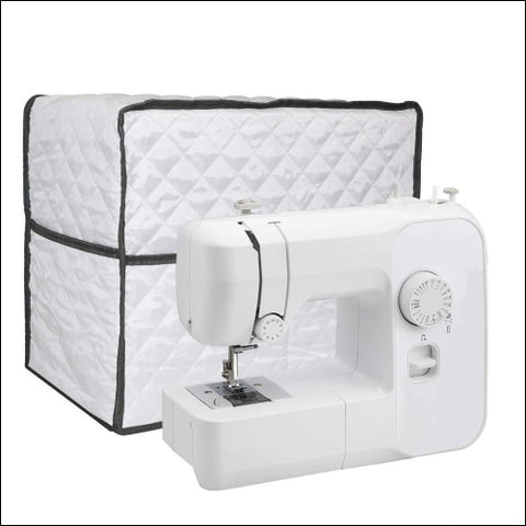 Sewing Machine Cover Large Quilted Fabric Dust Cover Fits Most Standard Brother & Singer Machines Sewing Storage Case with Storage Pocket
