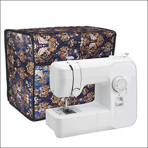 Sewing Machine Cover Quilted Fabric Large Dust Cover Fits Most Standard Brother & Singer Machines Sewing Storage Case with Storage Pocket