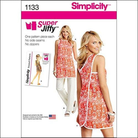Simplicity 1133 Womens Tunic and Pants Sewing Pattern Set Sizes 6-18 - Simplicity 0039363511335