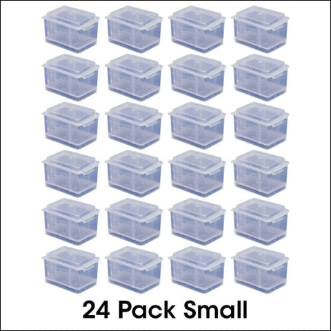 Small Connect-A-Box 24 pcs from Cottage Mills. Small item storage system that connects and stacks. Perfect for little things like beads