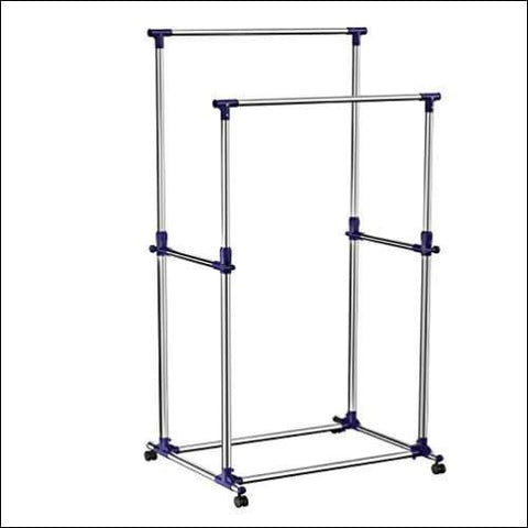 SONGMICS Double Rod Garment Clothing Rack on Wheels Clothes Racks for Hanging Clothes ULLR03B - SONGMICS 6955880364640