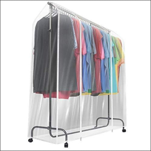 Sorbus Garment Rack Cover - 6 Ft Transparent Clothes Rail Cover Garment Coat Hanger Protector Clothing Storage for Dresses Suits Coats and