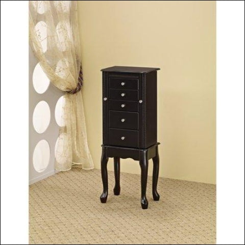 Stylish Jewelry Armoire Black - Home Roots 0192551054998