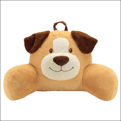 Sweet Seats Adorable Dog Childrens Plush Floor Cushion | Ideal for Children Ages 2 and up | Storage Pocket on Back | 26W x 14D x 16H - Sweet