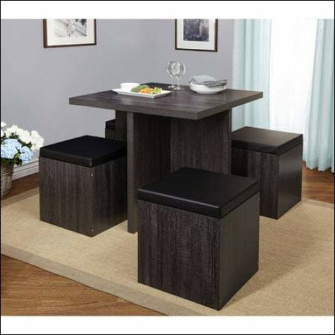 TMS 5-Piece Baxter Dining Set with Storage Ottoman Multiple Colors - Target Marketing Systems 0024319720169