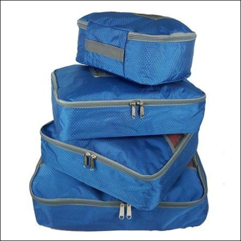 Travel Packing Cubes 4Pcs Set Luggage Packing Organizer Clothing Pouches Bags - K-Cliffs 0638888584727