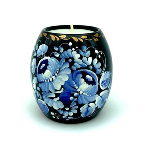 UA Creations Tealight Candle Holder Hand Painted Ethnic Floral Design Christmas Home décor Accent Gift for Table Fireplace Living Room