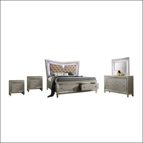 Venetian 5pc Queen Bedroom Set with 2 Night Stand - Best Quality Furniture 0687765715549