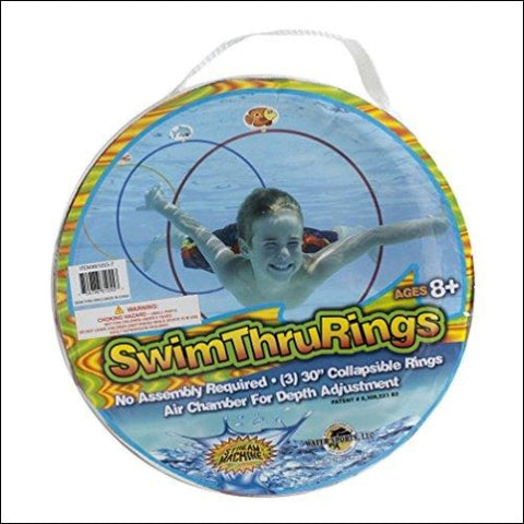 Water Sports Swim Thru Rings 3 Pack - Water Sports 755786810557