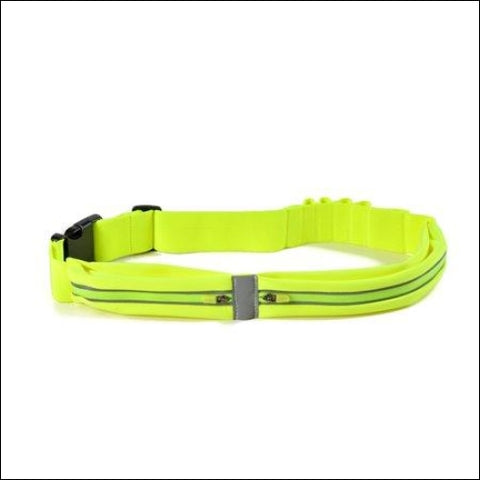 Waterproof Sweatproof Reflective Running Fitness Belt w/ Dual Pouch Bag for all Cell Phones - AGPTEK 0766008393857