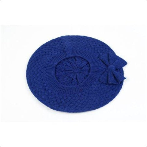 Womens Fashion Knitted Beret Net Style with Bow 182HB - Pop Fashionwear Inc 0702443326128