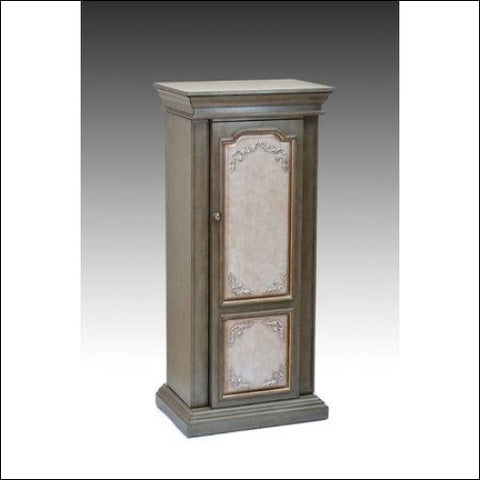 Wooden Jewelry Armoire Antique Gray & Antique Beige - Home Roots 0192551087422
