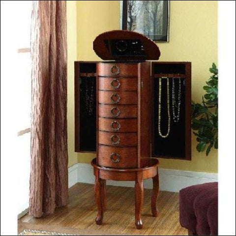 Woodland Cherry Jewelry Armoire - DwellingDesigns 0654204559910