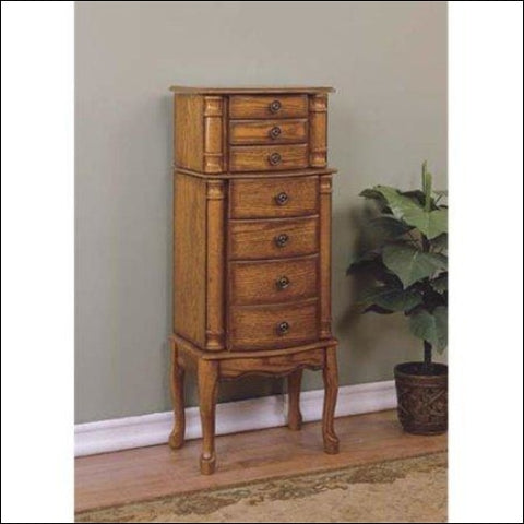 Woodland Oak Jewelry Armoire - DwellingDesigns 0654204560060