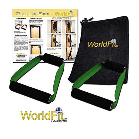 WorldFit Pull-Up Grips for Door in Home Office and Hotel Portable Pull Up Bar Home Gym (olive drab) - WorldFit Inc. 680577972162
