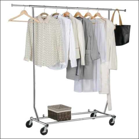 Yaheetech Clothing Garment Rack Heavy Duty Clothes Rack Extendable Commercial - Yaheetech 6900216465126