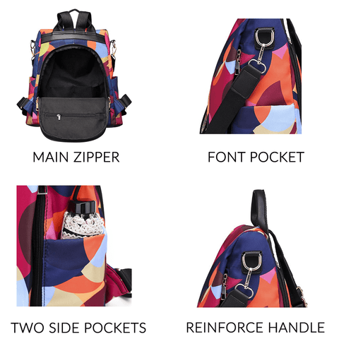 Anti-Theft Women Backpack