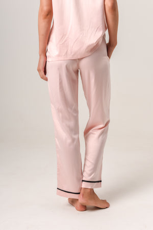 Women's Personalised Pyjamas - Blush (With Black) Autumn Set