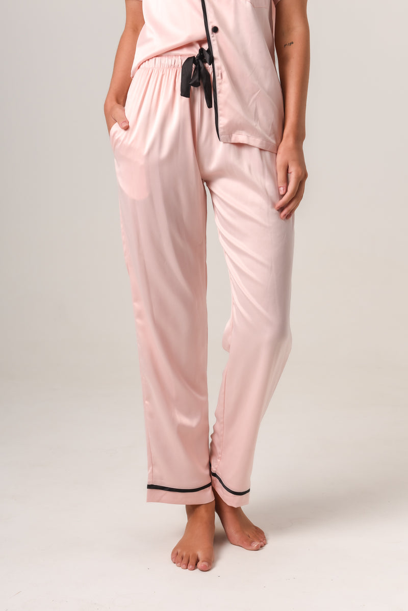 Additional Pants - Blush with Black Piping