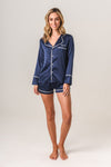 Women's Personalised Pyjamas - Navy Spring Set