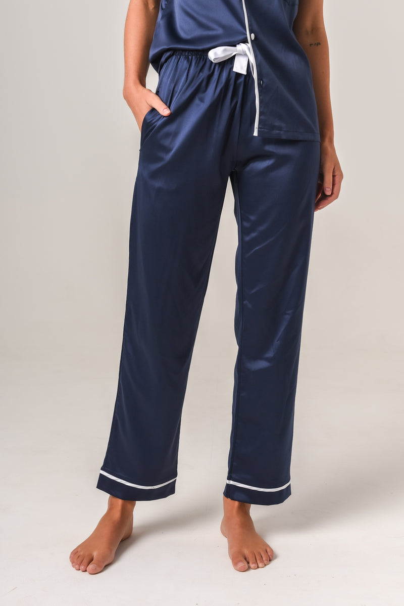 Additional Pants - Navy with White Piping