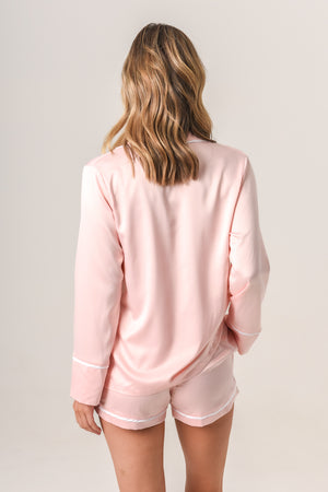 Luxurious Personalised Pyjamas - Blush (With White) Spring Set