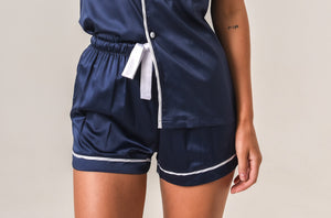 Additional Shorts - Navy with White Piping
