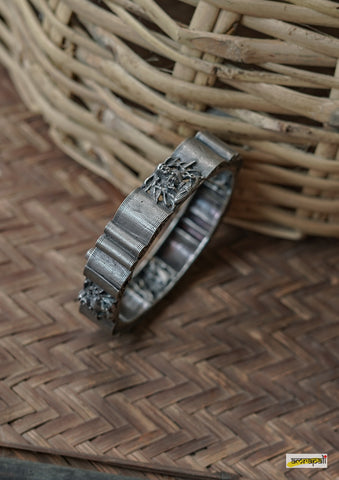 German Silver Solid Chunky Statement Kada