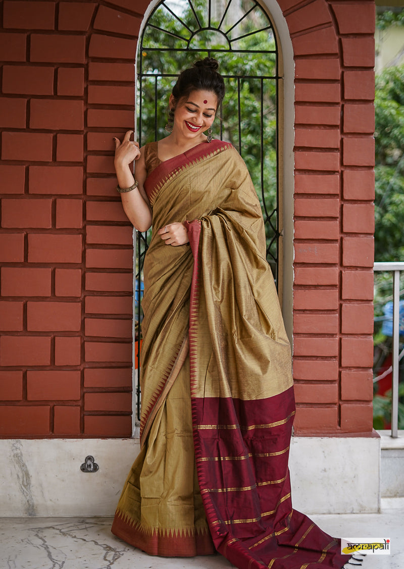 Handloom South Cotton with Temple Border