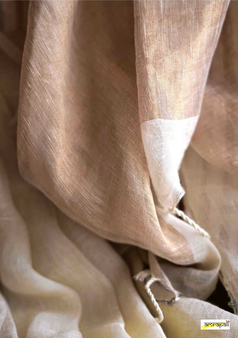 Handwoven Pure Tissue Linen with Gold and Silver Accents
