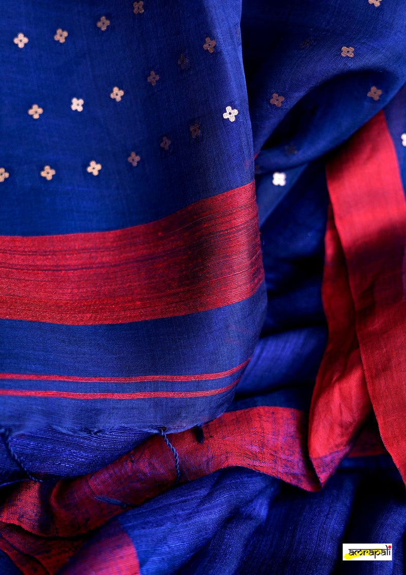 Handwoven Pure Matka Eri with Woven Gold Sequins
